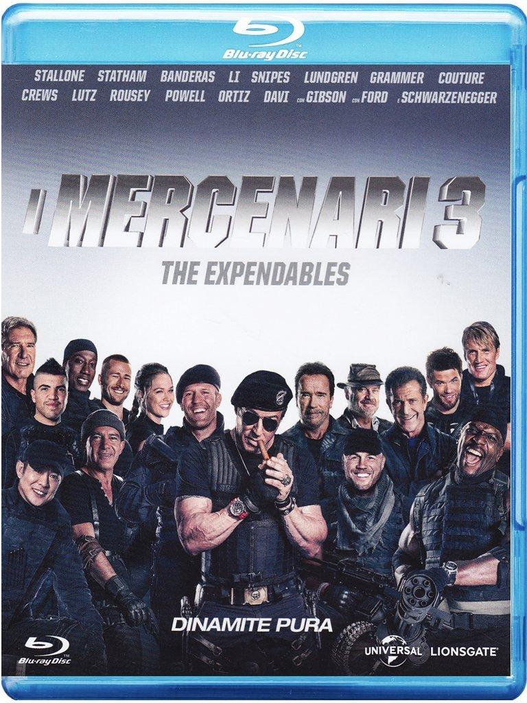 i mercenari 3 blu-ray