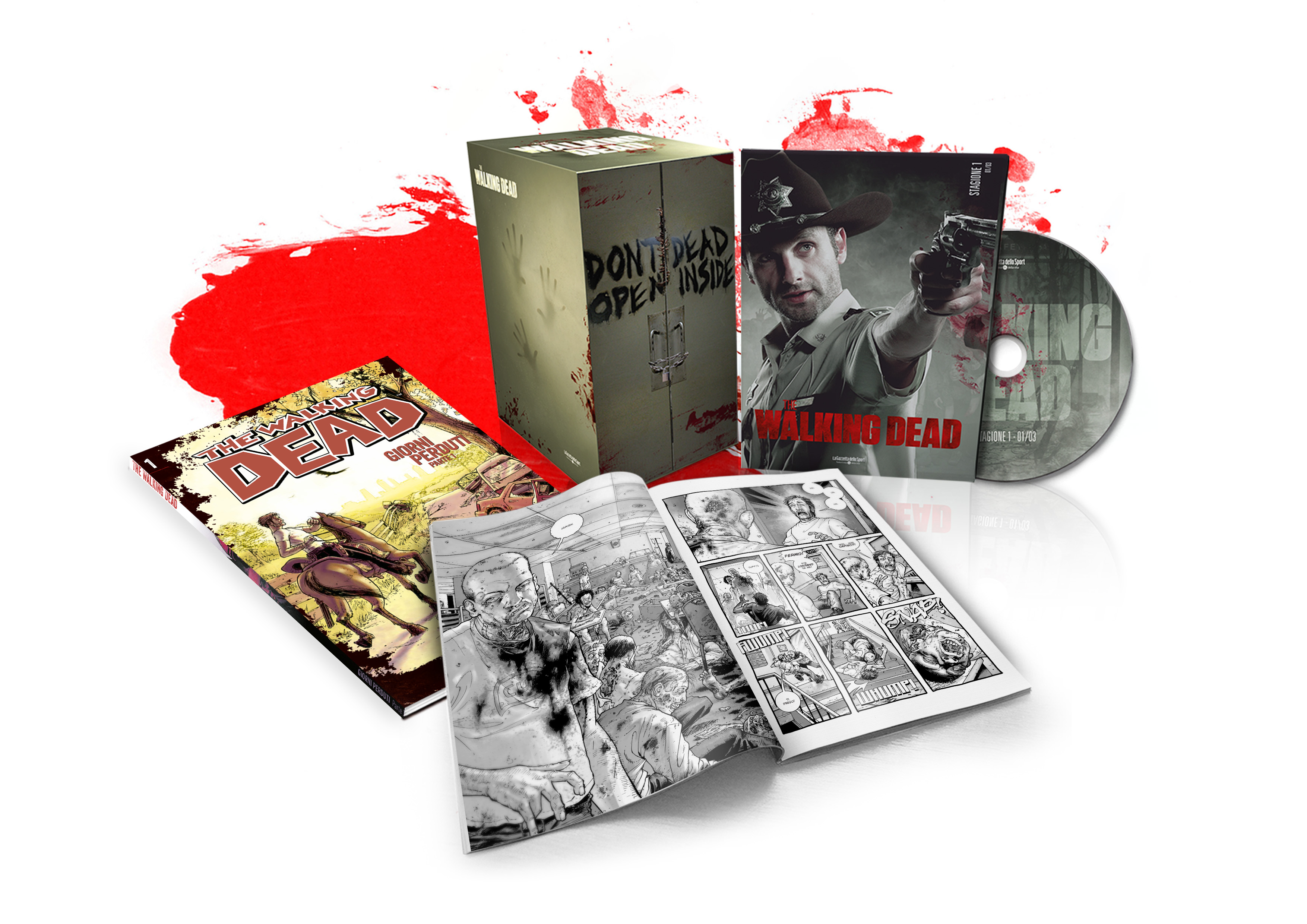 the walking dead dvd fumetto
