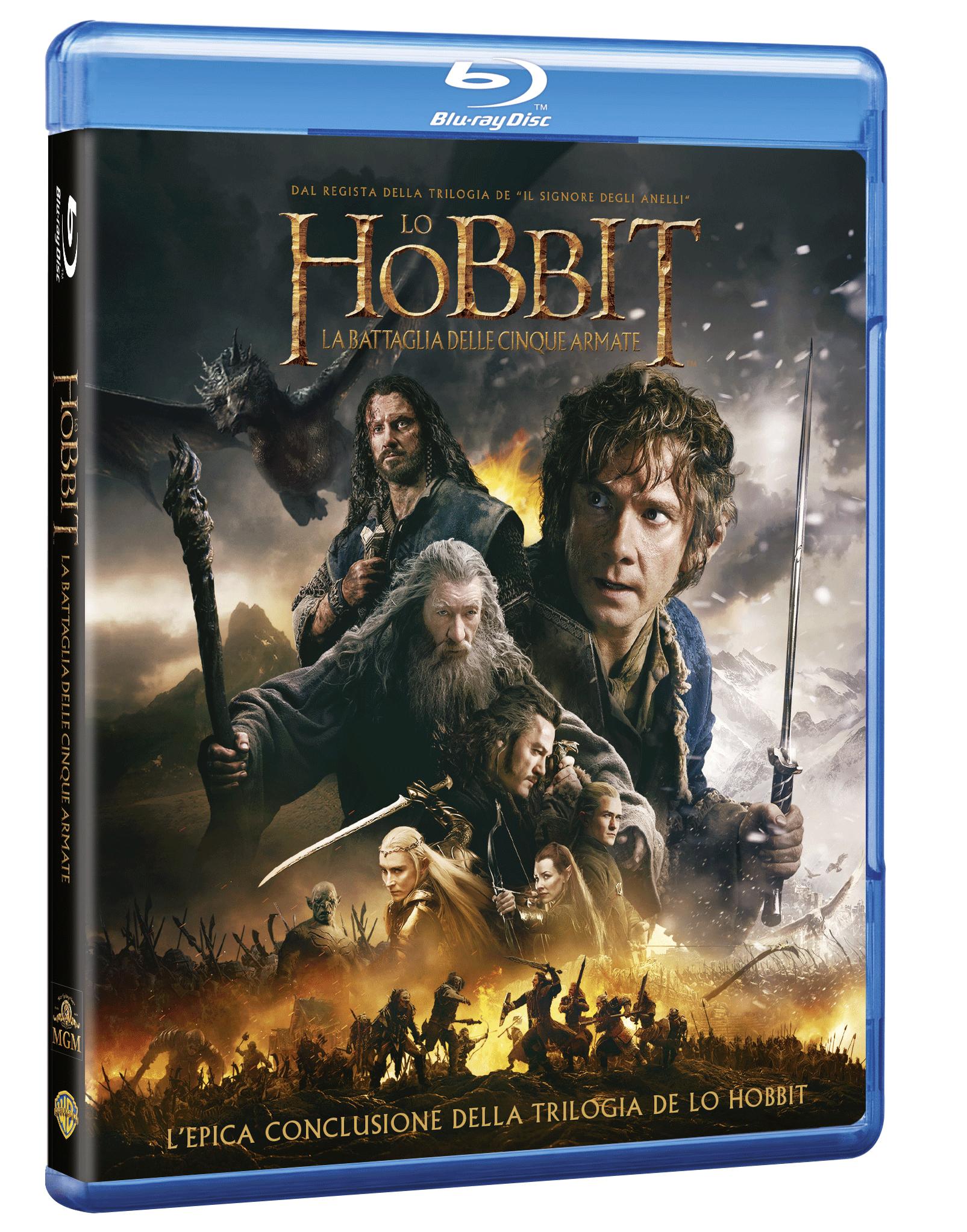 lo hobbit 3 blu-ray