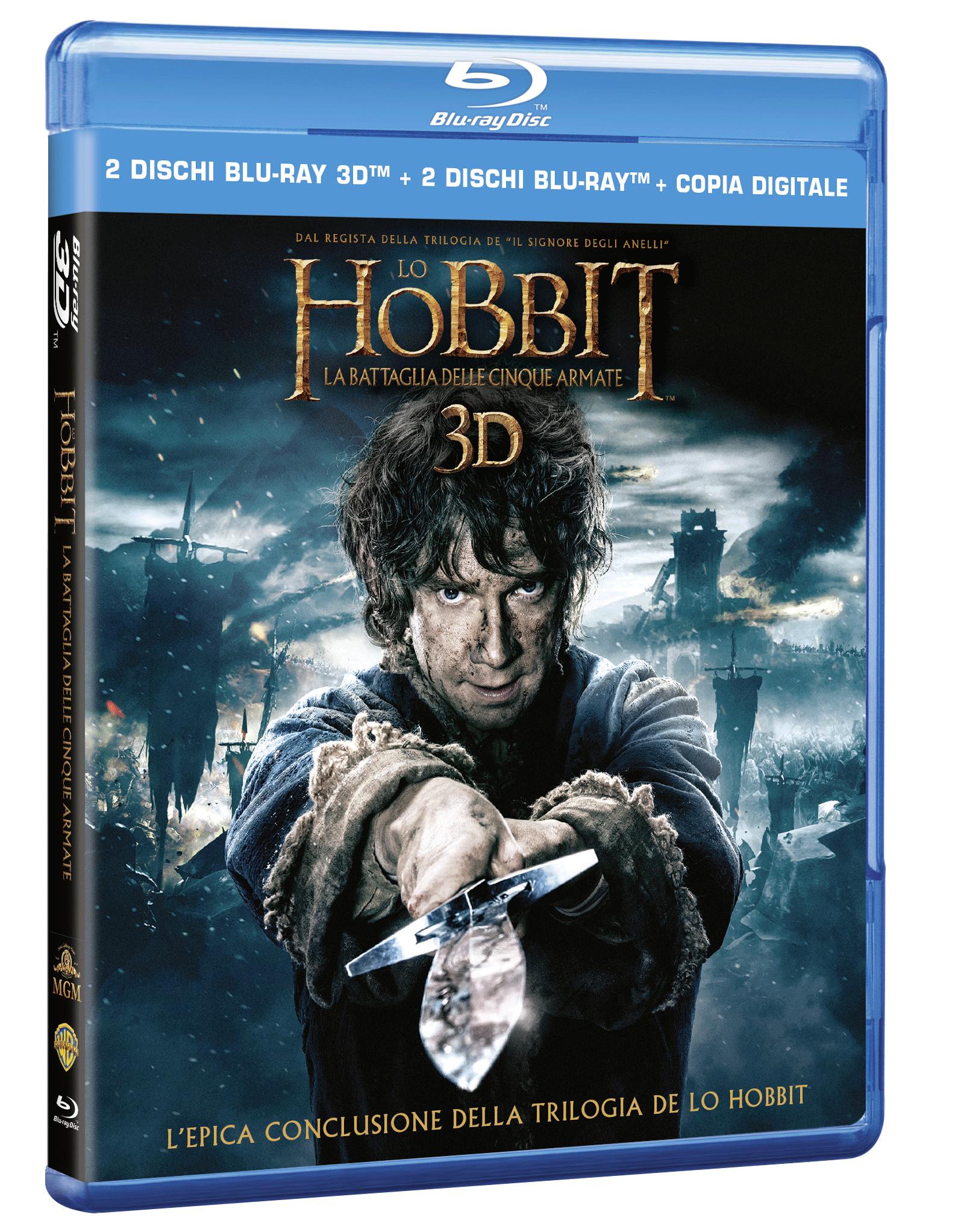 hobbit battaglia cinque armate bluray 3d
