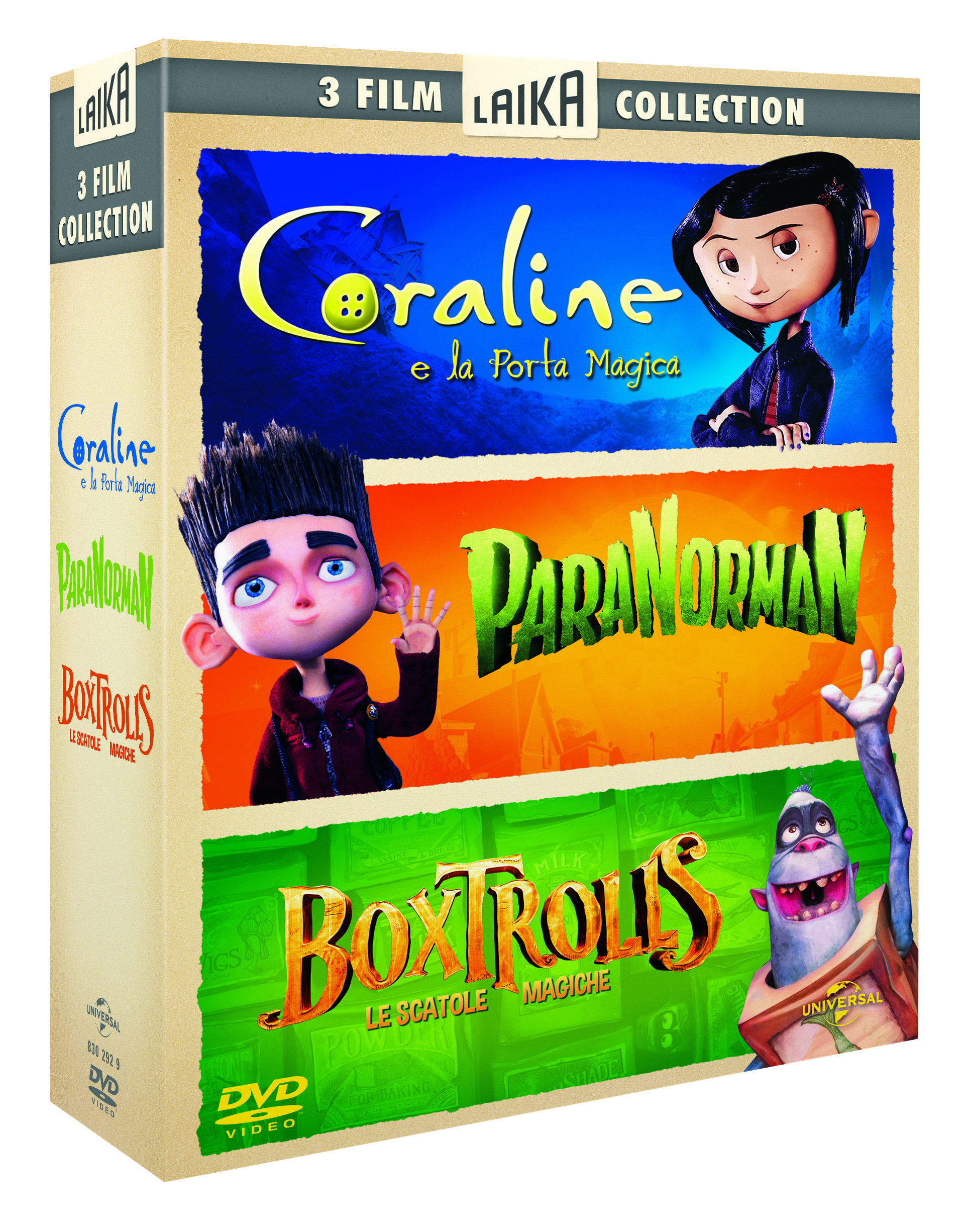 box dvd coraline paranorman, boxtroll