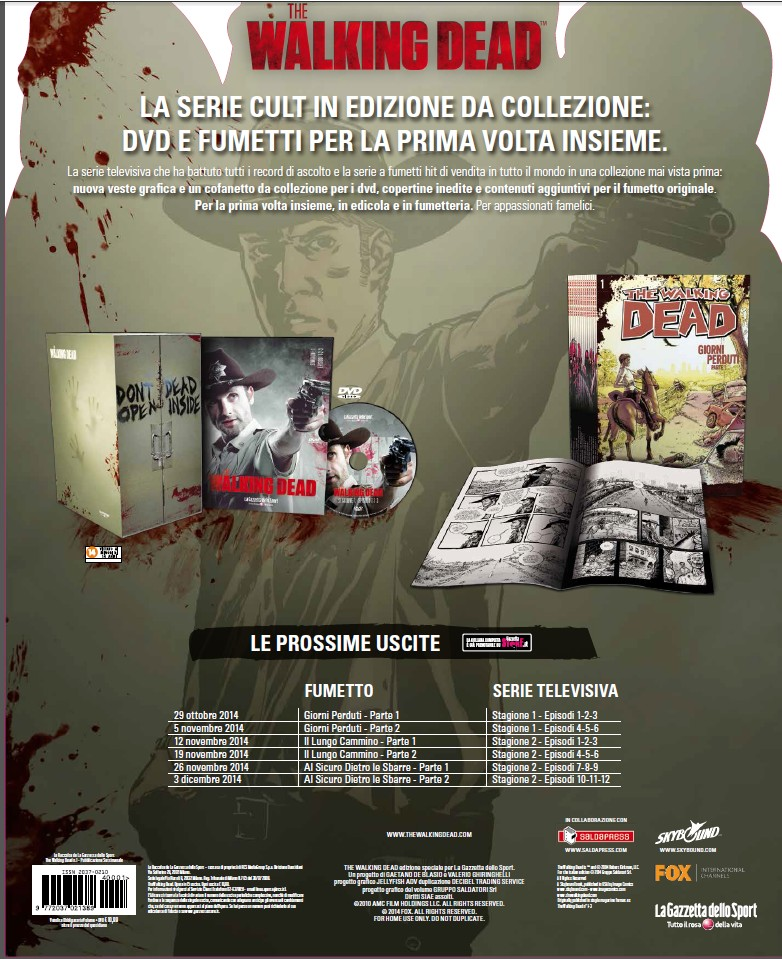 the walking dead dvd fumetto 2